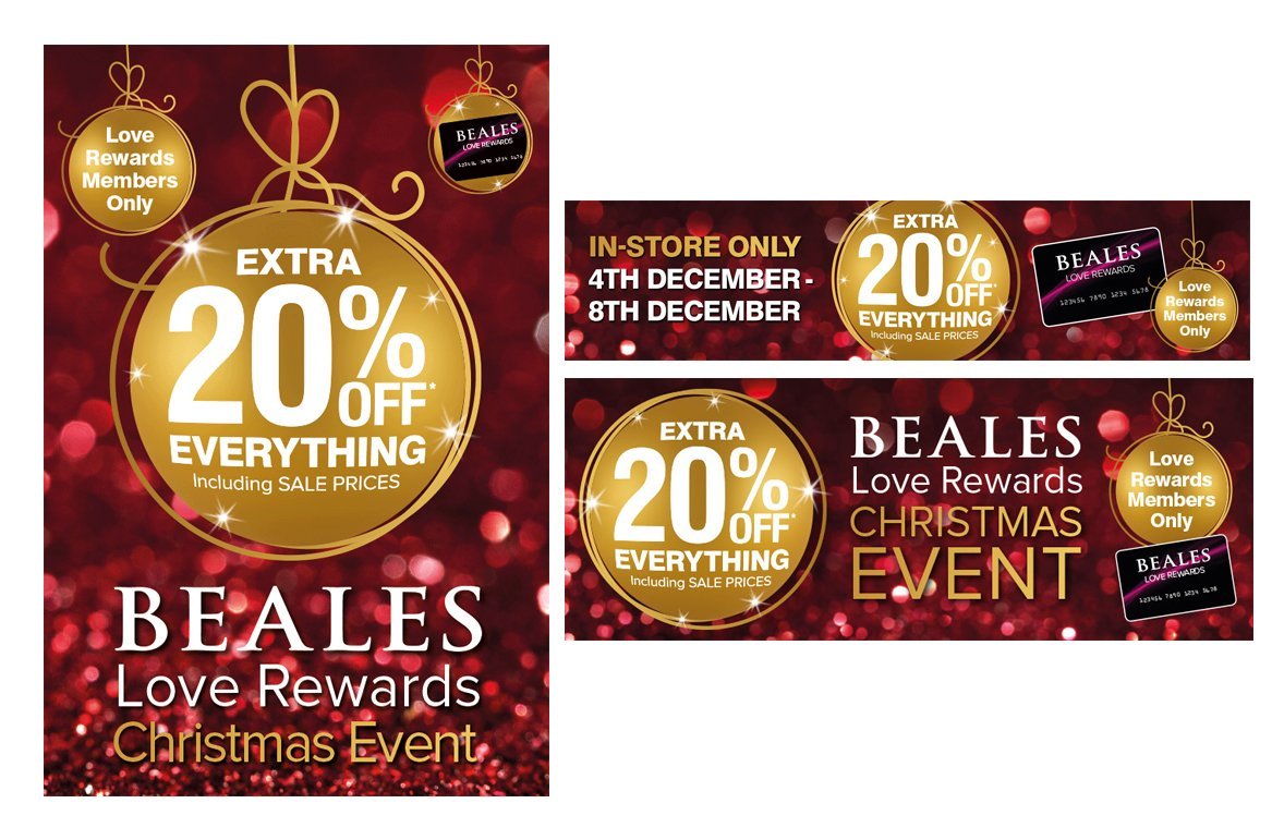Beales Christmas Banners