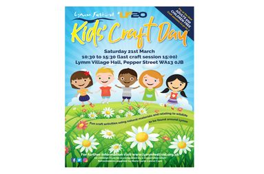 Lymm Festival Kids Craft Day Poster
